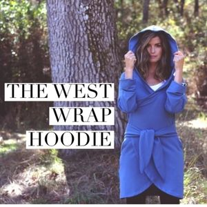 Salts & West Bamboo Wrap Hoodie Sweater size small